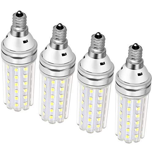 E12 Led Bulb 150 Watt Equivalent, 15W Led Candelabra Watt Light Bulbs 1500Lm Daylight White 6000k Led Chandelier Bulbs, Decorative Candle Base Non-Dimmable 4 Packs (Daylight White)