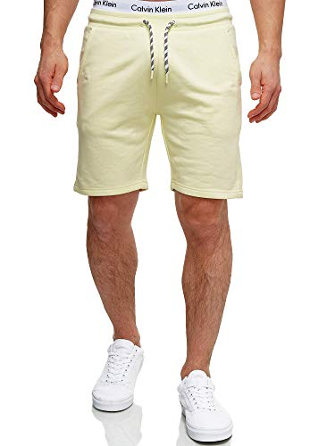 Indicode Pantalones cortos de chándal para hombre de Yates, con cordón y 3 bolsillos, pantalones cortos con cordón, corte regular Young Wheat XXXL