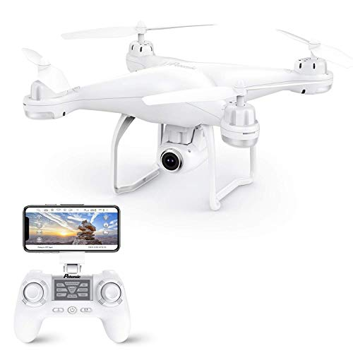 Potensic Drone GPS, Drone with Camera 1080P HD with Follow Me, 120º Wide Angle, RTF Altitude Hold, Headless Mode and Return Home, T25 White