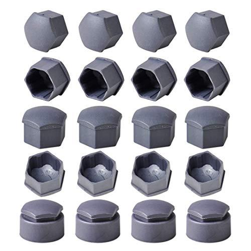 Set di tappi centrali ruota , 16 pezzi 17mm Copriruota dado centrale + 4 pezzi 25mm Bullone circolare Tipi di bloccaggio tappi, per Volkswagen, per Audi, per sedile