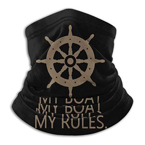XXWKer Microfibre Chapeaux Tube Masque Visage Tour de Cou Cagoule, My Boat My Rules Men & Women Cold Weather Ultimate Thermal Retention Face