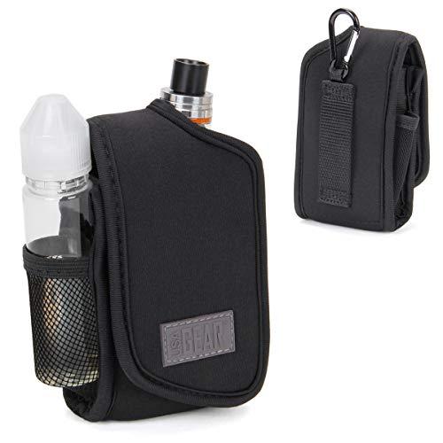USA Gear E Zigarette Tasche Klein Vaporizer Pen Holster für Box Mods & Tanks - Eingebauter Smoke Juice & Zubehör Halter mit Gürtelschlaufe & Karabinerclip - Elastisches Neopren für meisten Vape Mods