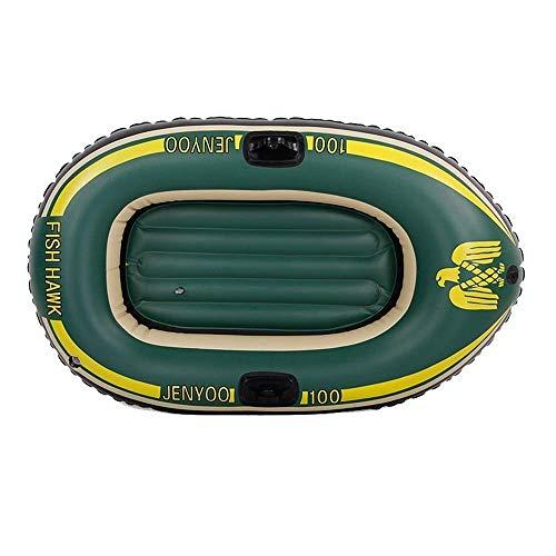 GUOE-YKGM Kayak Aufblasbares 1-Personen-Kajak-Set Mit Kunststoff-Rudern Und Fußpumpe - Freizeit-Faltboot-Marinesport-Angelabenteuer - Best Fishing Travel Navigation 137 * 80 * 22,5 cm Armee-Grün