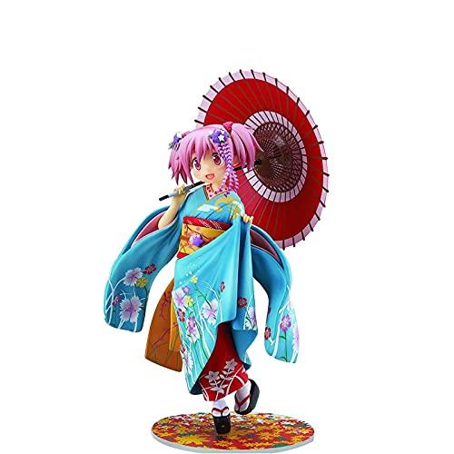 ZEwe Puella Magi Madoka Magica Kaume Maruka Kimono Yukata Dancer Figura Decoración de Escritorio Decoración de Navidad Regalos for Adultos
