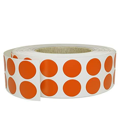 Royal Green Etiketten / Aufkleber auf einer Rolle, 10 mm, Orange, 3000 Stück