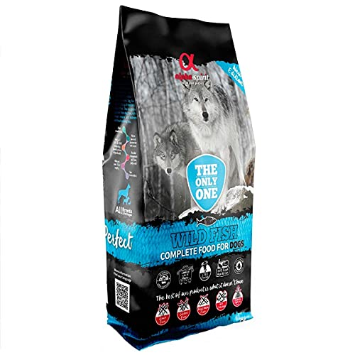 ALPHA The Only One Canine Adult Pescado 12KG, Negro, Mediano ✅