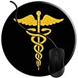 QCFW Alfombrilla de Ratón Doctor Enfermera Caduceo Medicina, Alfombrilla de Ratón...