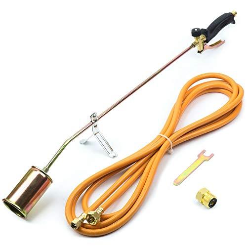 Gasbrenner Brenner Dachbrenner Mitteldruckregler Abflammgerät Gaslötgerät Druckregler Regler (Gasbrenner 58KW)