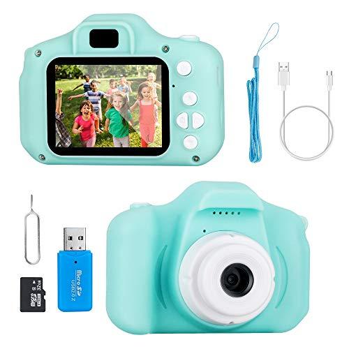 Jooheli KinderKamera, Kinder Digital Kamera 2 Zoll HD-Bildschirm 1080P Videokamera mit 32 GB TF Karte, Kamera Spielzeug für Jungen und Mädchen im Alter von 3-12 (Hellgrün)