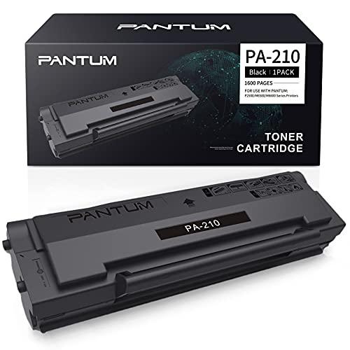 Cartuccia Toner Nero Originale Pantum PA-210 Compatibile con Stampanti P2500W P2502W M6500NW M6550NW M6558NW M6600NW M6608NW, Capacità fino a 1.600 pagine