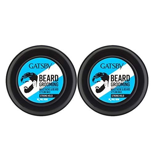 Gatsby Moustache & Beard Styling Wax, 25 g (Pack of 2)