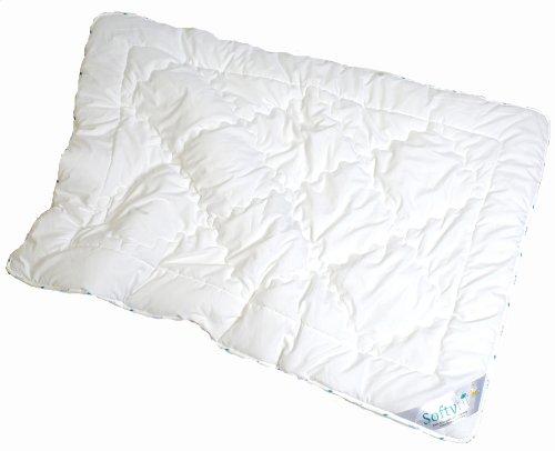 ARO ARTLÄNDER softyfil Duo 9708020 Petit lit bébé fibre creuse 100% polyester Lavable en machine à 60 ° – Passe au sèche-linge – Taille 80 x 80 cm