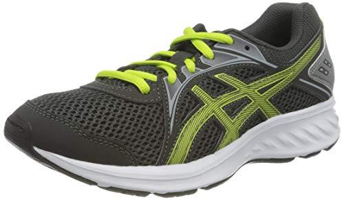 ASICS Unisex-Child Jolt 2 Running Shoe, Graphite Grey/Lime Zest, 37 EU