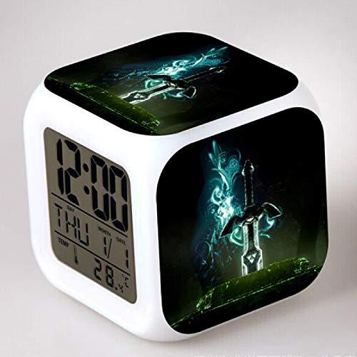 TYWFIOAV La Leyenda de Zelda Reloj Despertador Luminoso Juguete de plástico para niños Reloj Despertador Digital LED Bebé