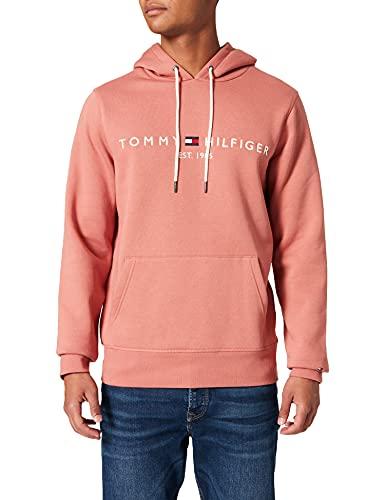 Tommy Hilfiger Tommy Logo Hoody Sudadera con Capucha, Naranja (Mineralize), M para Hombre