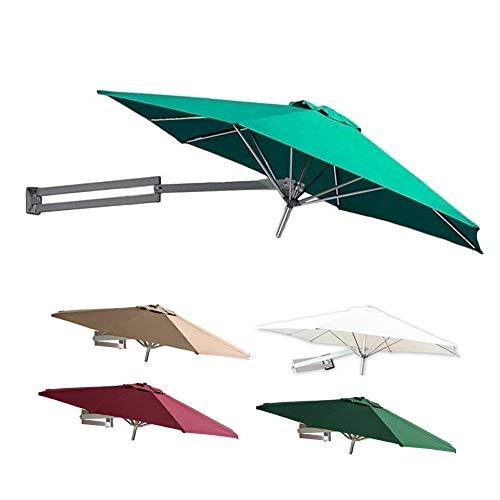 Ombrelloni Parete Verdi, Protezione Solare da Parete per Esterni e Protezione dai Raggi UV Tende da Giardino Giardino con Pali in Metallo (Size : 2.2m/7.2ft)