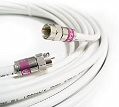 8ft MADE IN USA COMMSCOPE 2275V PLENUM CMP RG6 Coaxial Cable 75 Ohm 3Ghz UL ETL COMMERCIAL GRADE SATELLITE TV BROADBAND INTERNET COMMUNICATION CATV RoHS BRASS compression F-Connectors