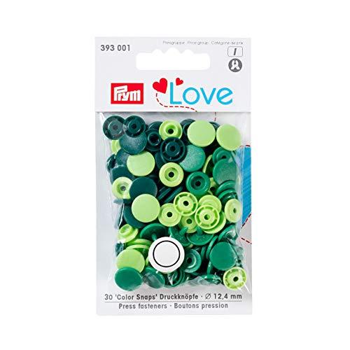 Prym Love Druckknopf Color KST 12,4 mm grün, Polyester, 12.4 mm cm