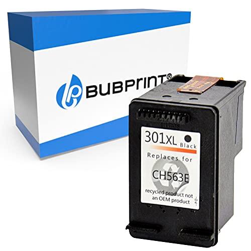 Bubprint Kompatibel Druckerpatrone als Ersatz für HP 301XL für DeskJet 1000 1010 1050 1510 2050 2540 2544 2545 3050A 3055A Envy 4500 4502 4504 4508 5530 OfficeJet 2620 2622 4630 4632 4634 4636 Schwarz