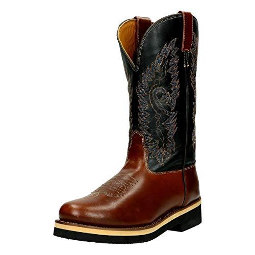 HKM 4526 Westernstiefel Softy cow, Cowboystiefel Western Cowboy, Echtleder, Braun, 40