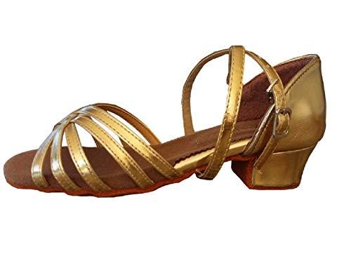Zapatos de Baile - latinoamericano - niñas - niñas - salón de Baile - Color Dorado - Etiqueta 29 EU - Idea de Regalo de cumpleaños - Navidad - Fiesta