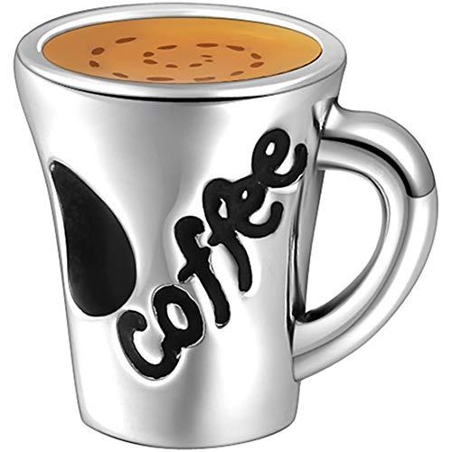 Soufeel Coffee Charm Kaffeetasse 925er Sterlingsilber Charms Beads Anhänger