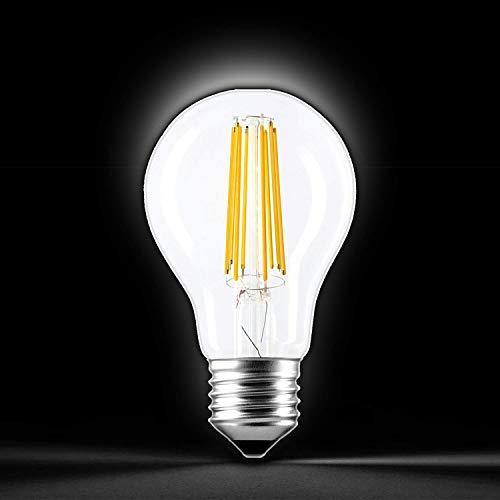 Ledbyled Ampoule à filament E27, 12 W, 7,5 x 14,5 cm
