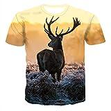 Camiseta de moda para hombre Streetwear Tees Funny Animal...