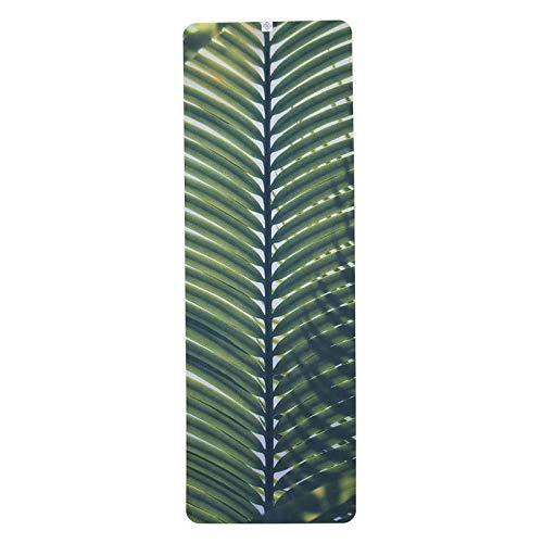 Domyos Yoga-Handtuch, rutschfest, bedruckt mit Palmen