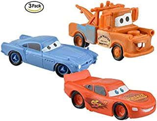 3 Cars Cake Toppers. Boy Car Playset. Lighting McQueen Birthday Party.
