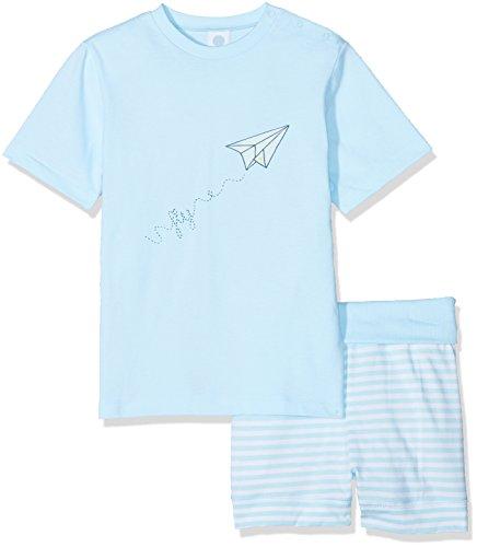 Sanetta Sanetta Baby-Jungen 221382 Zweiteiliger Schlafanzug, Blau (Blue Ice 50055), 74