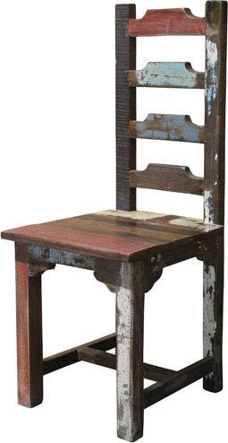 BARBADOS 2er Set Stühle Esszimmerstuhl Essstuhl Küchenstuhl Lehnstuhl Holzstuhl Recyclingholz Vintage Shabby Chic