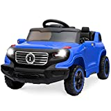 Best Choice Products Kids 6V Ride On Truck w/ 30M Remote Control, 3 Speeds, LED Lights, Blue