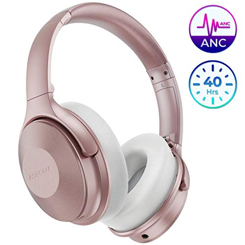 Mpow Active Noise Cancelling Headphones, H17 New Bluetooth Headphones Over Ear with 40H Playtime, Built-in Mic, Quick Charge, Wired/Wireless Headset for Travel, Online Class, Home Office, TV