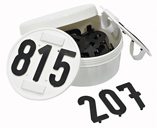 Busse Startnummern RUND, steckbar, 3-stellig, Klettverschluss, weiß