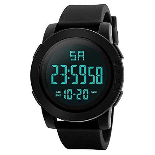 ¡Promoción!Mens Digital Relojes Deportivos Cara Grande Pantalla LED Impermeable Relojes Militares Casual Impermeable Luminoso Simple Ejército Reloj Cronómetro Alarma