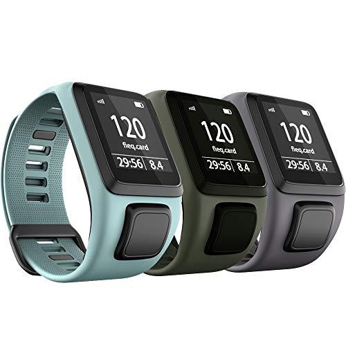 Anbest - Correa de reloj de TPU compatible con Tomtom Runner 3/Spark 3/Runner 2/Adventurer 2/Golfer 2, cómoda pulsera para Tomtom Runner 2 Music/Runner 3 Cardio Smart Watch