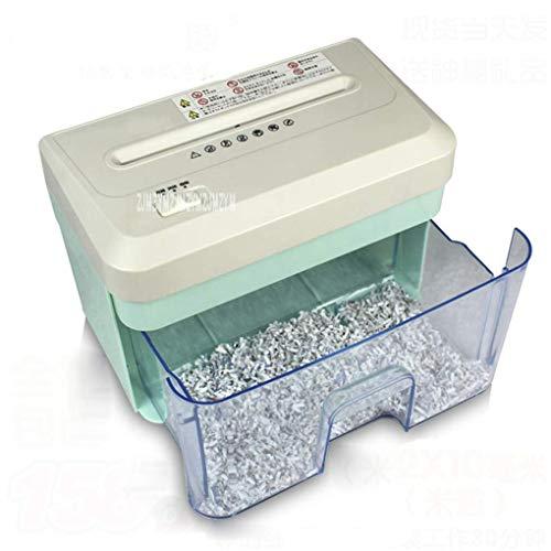 unknow Aktenvernichter,2.1L Elektrische Mini Schredder Datei Schredder Streifen Office Home High Power Elektrische Schreddern Papier Schredder 156Mm