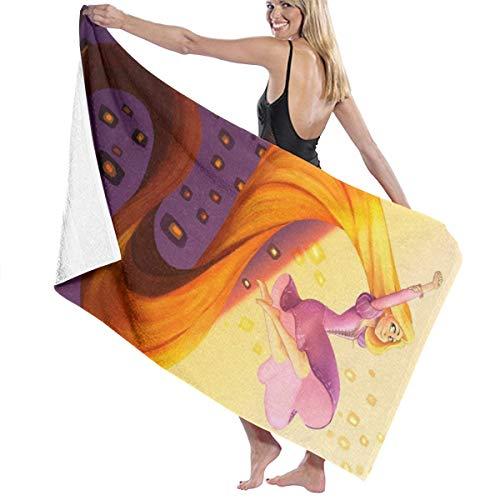 Rapunzel - Toalla de baño de secado rápido para hombres y mujeres