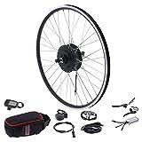 Wosune Motor de Rueda de 27,5 Pulgadas, Kit de conversión de Bicicleta eléctrica Negra de Gran Capacidad de Carga para entusiastas del Ciclismo para KT-LCD5 Pantalla para Bicicleta eléctrica DIY