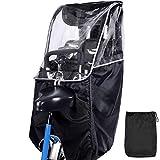 ACELEY Fahrrad Rücksitz Kinder Regenschutz Poncho Regen Und Windschutz Faltbar Tragbar Transparent für Kinder Fahrradsitz