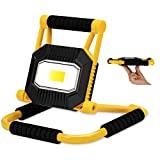 Anhay LED Work Light 1200 Lumens, Rechargeable Job Flood Light with 8000mAh Power Bank, Portable Adjustable Stand COB Work Lamp