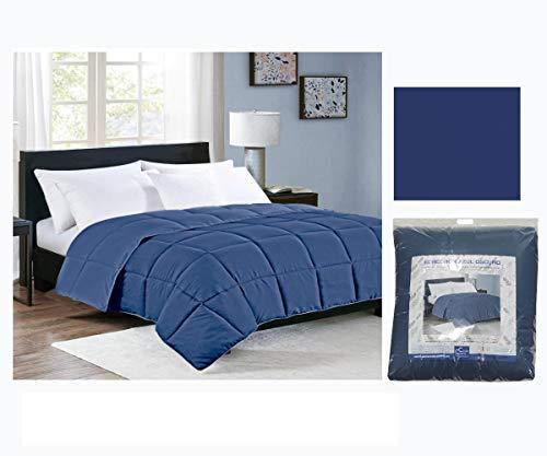 Edredón Nórdico Reversible Colores 350gr Relleno de Fibra Hueca Color (Azul, Cama 105)