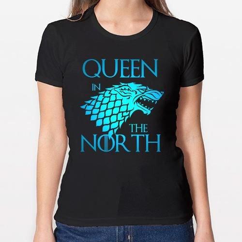Positivos Camisetas Mujer/Chica - diseño Original Queen in The North - L
