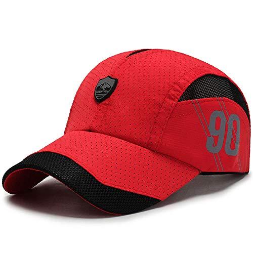 FPXNBONE Cap Hohe Qualität Baseballmütze Für Männer,Schnelltrocknende Mesh-Baseballkappe, Outdoor-Sonnenhut-rot_einstellbar, Unisex Schirmmütze