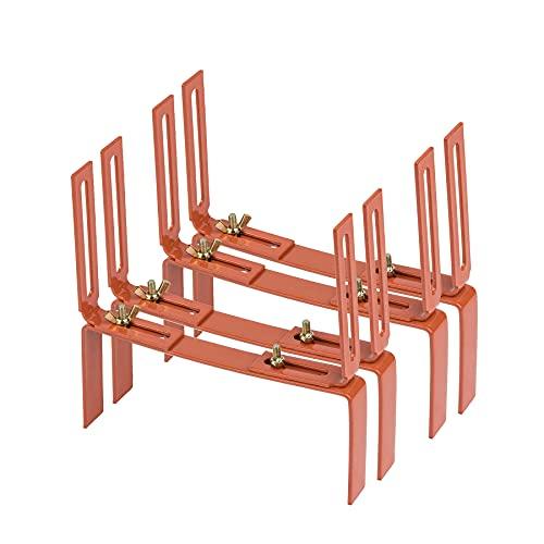 2 Paar Blumenkastenhalter terrakotta Standard H-Form Kasten Halter Balkonkastenhalter