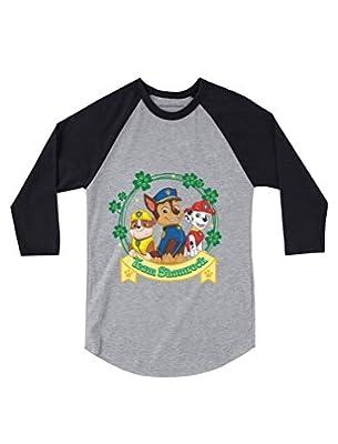 Team Shamrock St. Patrick's Day Paw Patrol Gift Official 3/4 Sleeve Baseball Jersey Toddler Shirt 4T Dark Gray