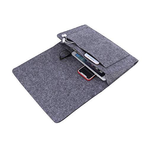 M I A Organizador de almacenamiento para mesilla de noche, de fibra de poliéster, bolsillo para sofá, cama, sillón de 12,6 x 7,9 x 3,9 pulgadas, control remoto de teléfonos para cabeceros
