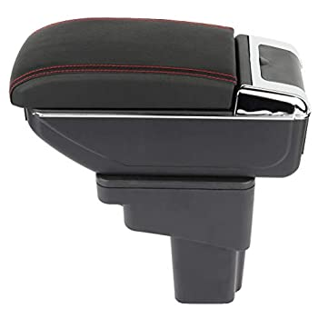 ZENITHIKE Center Console Armrest Storage Box Replaces for 2010-2015 Juke Black Console Armrest Cover Replacement