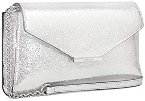 Nine West Clutch for Women - Silver